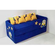 Диван-кровать Миньоны арт. 30006 с бортиком с выкатным элементом