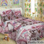 Комплект постельного белья Мишки для малышей, поплин