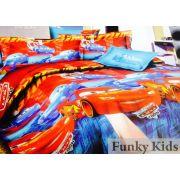 Детское постельное белье Тачки Молния, арт. 102 для мальчиков, поплин