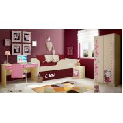Детский двухъярусный диван Латте арт. 30005 + мебель Фанки Беби Китти