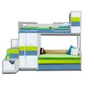 Двухъярусная кровать серии Твист Олли