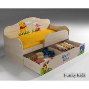 Кровать Винни Пух с бортиком, арт. 40003