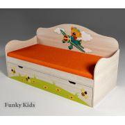 Низкая кровать для детей Самолет, арт. 40008