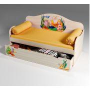 Кровать низкая для девочек Русалочка, арт. 40013