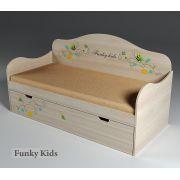 Кровать с выдвижным ящиком Бабочки, арт. 40011