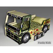 Милитари - кровать в виде машины для мальчиков
