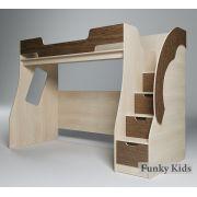 Детская кровать-чердак Фанки Кидз 23/1 с лестницей.