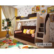 Кровать-чердак Фанки Кидз 23/1 + раскладной диван Бланес 1 для детей и подростков