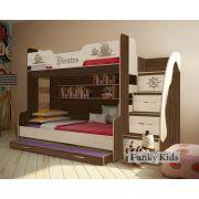 Двухъярусная кровать Пираты ПР-21 с доп. выдвижным спальным местом