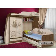 Двухъярусная кровать чердак Пираты ПР-4/1 + ПР-01