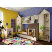 Мебель для детей Винни Пух (13/12 + 13/5 + 13/4 и 13/6 + 13/3 и 13/67) и кровать ФК Домик 13.7/2
