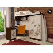 Кровать-чердак ГП-4/1 + письменный стол ГП-13/1 мебель Гарри Поттер