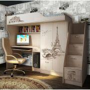 Кровать-чердак ФТР-4 + лестница-комод ФТР-13/8 Фанки Тревел