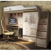 Чердак-кровать ПР-4 + лестница ПР-13/8 мебель Пираты