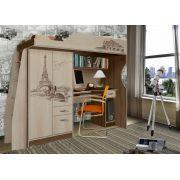 Детский чердак Фанки Тревел ФТР-4 со столом и шкафом