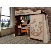 Мебель Гарри Поттер - кровать чердак ГП-4 (стол+шкаф)