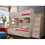 Двухъярусная детская кровать Фанки Кидз Лилак, арт. 21