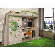 Кровать-чердак с встроенным столом ФУТ-4 серия Футбол