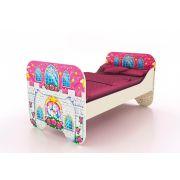 Одноярусная кровать КР-6 Замок Принцессы, сп. место 160*80 см.