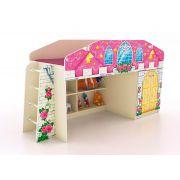 Кровать-чердак КЧ-8 с лестницей серия Замок Принцессы