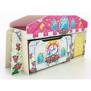 Кровать-чердак КЧ-8 + выкатной стол СТ-5 Замок Принцесса