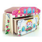 Кровать-чердак КЧ-8 + стол СТ-5 + ящик ЯЩ-8 Замок Принцессы