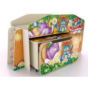 Кровать-чердак КЧ-8 + стол СТ-5 + ящик ЯЩ-8 Лесная Сказка
