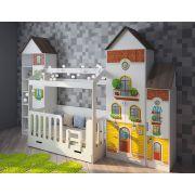 Детская комната Волшебный городок + кровать ДС-1/1 Домик Сказка