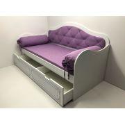 Одноярусная кровать Ноктюрн с мягкой спинкой H-40024МС