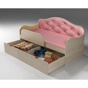 Кровать с выкатными ящиками Ажур спальноеместо 190х80см.